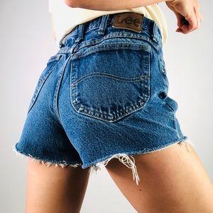 [Vintage] LEE | High Waist Cut Off Denim Shorts